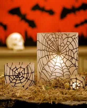 funkelten Spiderweb Hurrikane 34-Ideen für Halloween Tisch Dekoration: How To