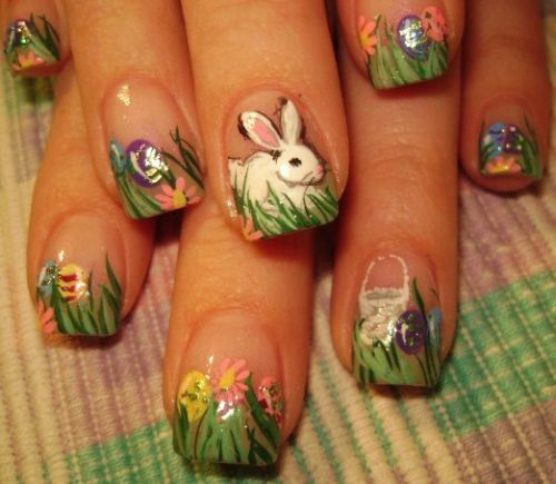 Frohe Ostern-Nail-Art
