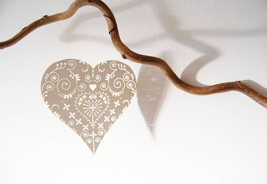 Laser-Cut Heart Mobile Dekorationen