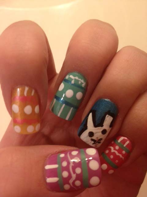 Osterei-Nageldesign nails Ostern