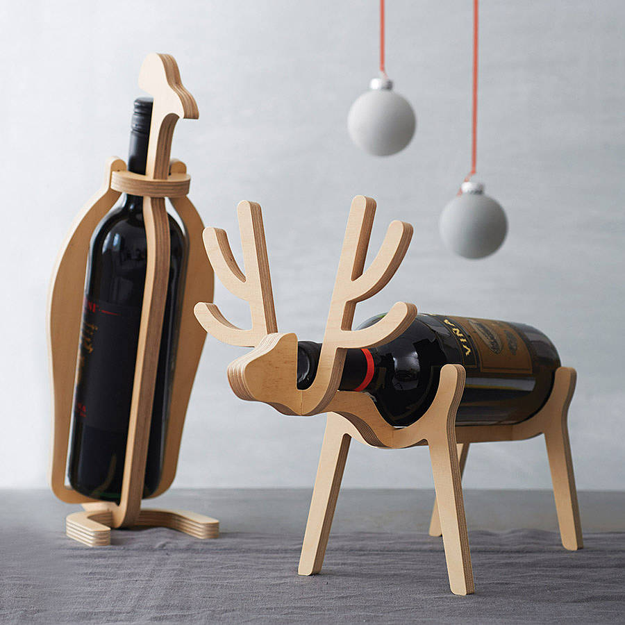 Pinguin oder Rentier Wine Rack
