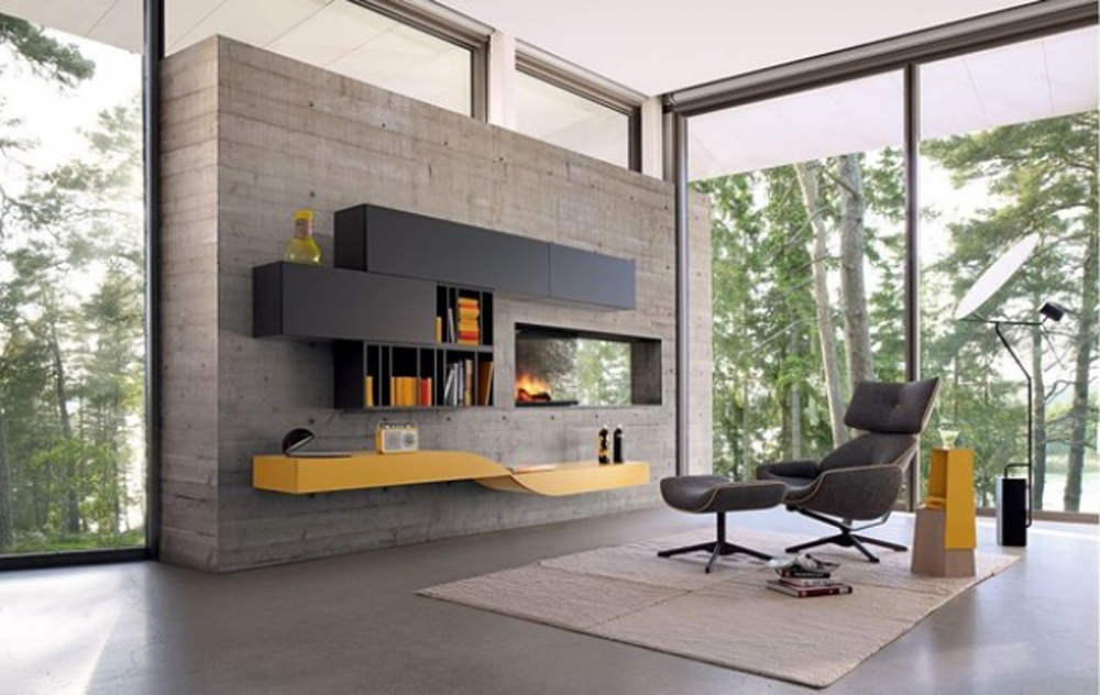 modulsystem verleiht dem wohnzimmer individualit t aequivalere. Black Bedroom Furniture Sets. Home Design Ideas