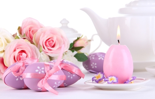 easter pink candle
