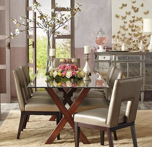 A glamorous spring table may attract a few butterflies-Ostern Deco