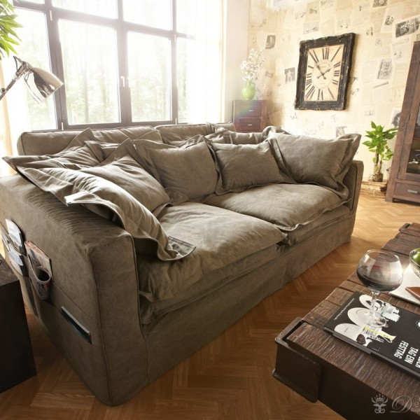 sofa noelia braun couch hussensofa mit kissen aequivalere. Black Bedroom Furniture Sets. Home Design Ideas