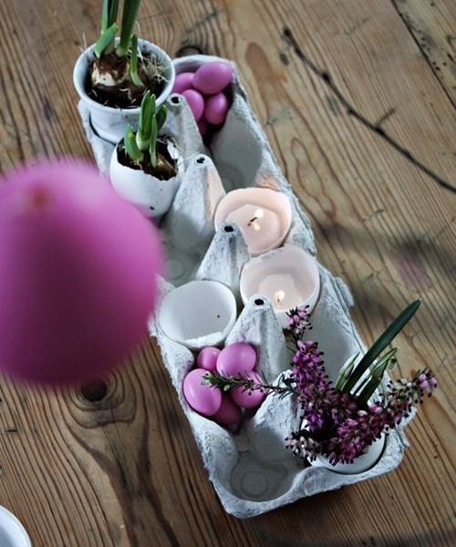 DIY Recycling Ostern Dekoration-Idee