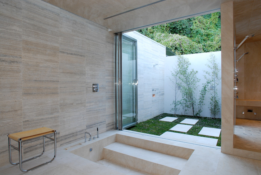 14 fabelhafte indoor outdoor badezimmer aequivalere for Indoor outdoor bathroom design ideas