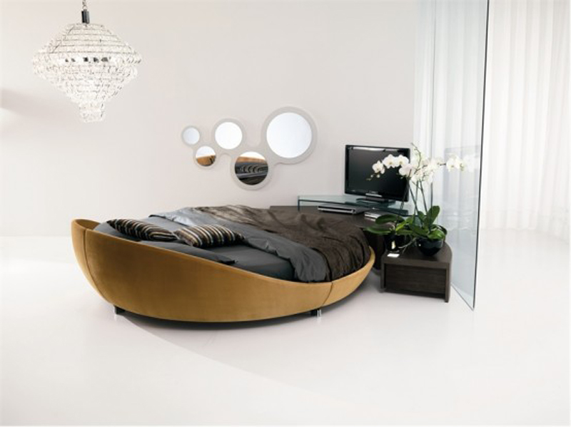 moderne runde betten von prealpi aequivalere. Black Bedroom Furniture Sets. Home Design Ideas