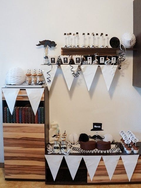 mustache baby shower party sweet table und deko aequivalere. Black Bedroom Furniture Sets. Home Design Ideas