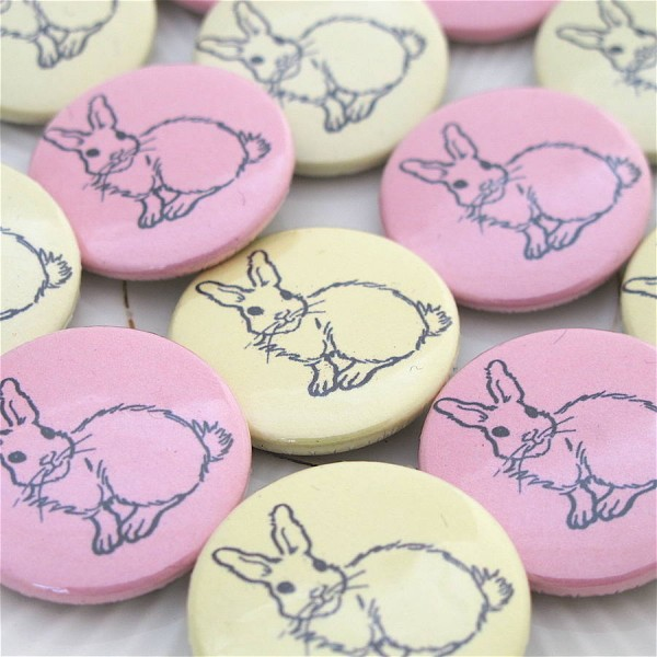 Ostern Hase Badges-Ostern dekorationen
