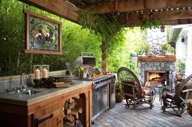 Outdoor k che design moderne au enr ume 8 aequivalere for Outdoor kitchen designs for small spaces