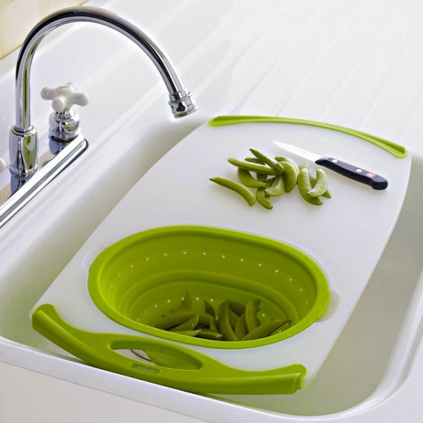 Rutschfeste Over-the-Sink-Cutting Board Küche-Design-ideen