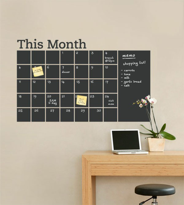 tafel wand kalender tafel deko ideen aequivalere. Black Bedroom Furniture Sets. Home Design Ideas