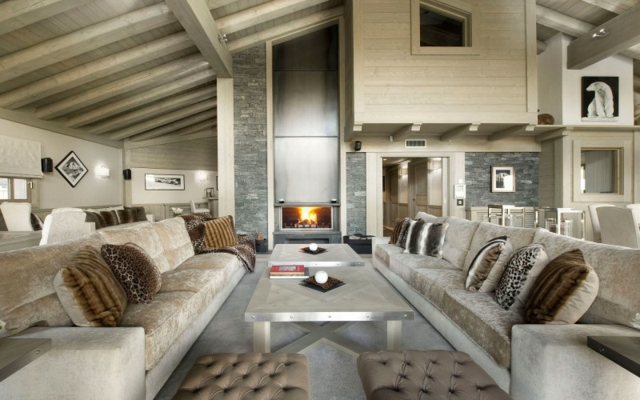 Luxuri ses chalet karakorum in den alpen aequivalere for Interieur ultra design