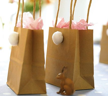 simple Easter Gift Bags-Ostern-Ideen für originelle Dekoration