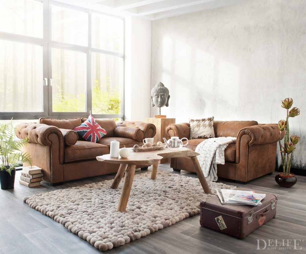 Design-sofa leder