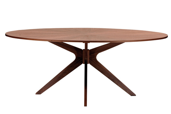 Tisch oval star masssivholz aequivalere for Tisch design oval