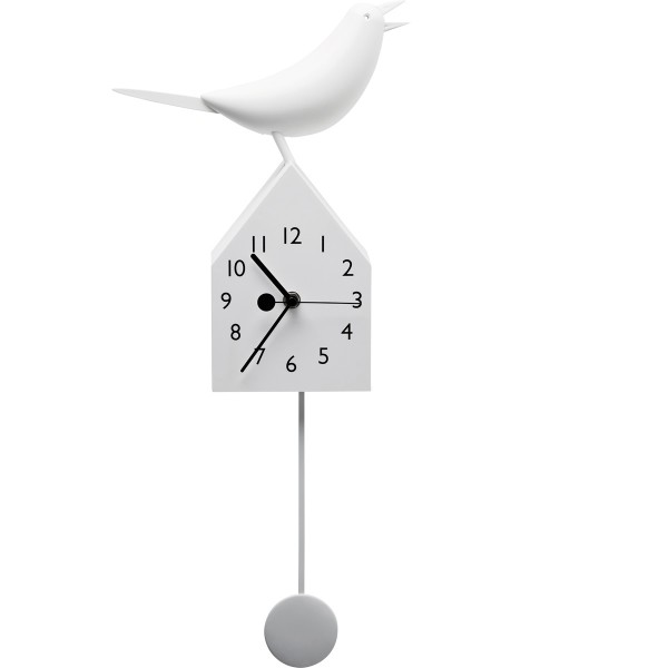 Wanduhr Bird House White-wohnaccessoires