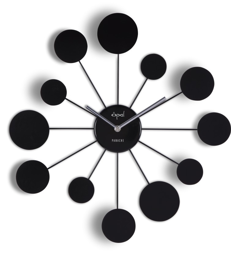 Wanduhr Water Lily Black-wohnaccessoires