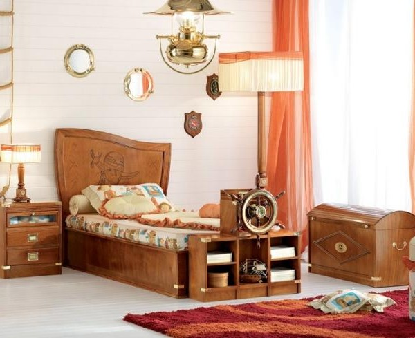modernes-Piratenbett-Kinderzimmer-Design-Massivholz