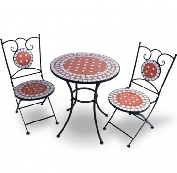 mosaik gartentisch set mit st hlen aequivalere. Black Bedroom Furniture Sets. Home Design Ideas
