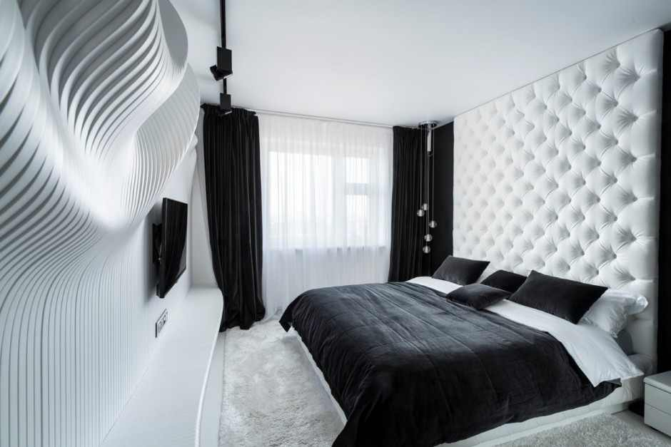Schlafzimmer Design in Black-White von Geometrix