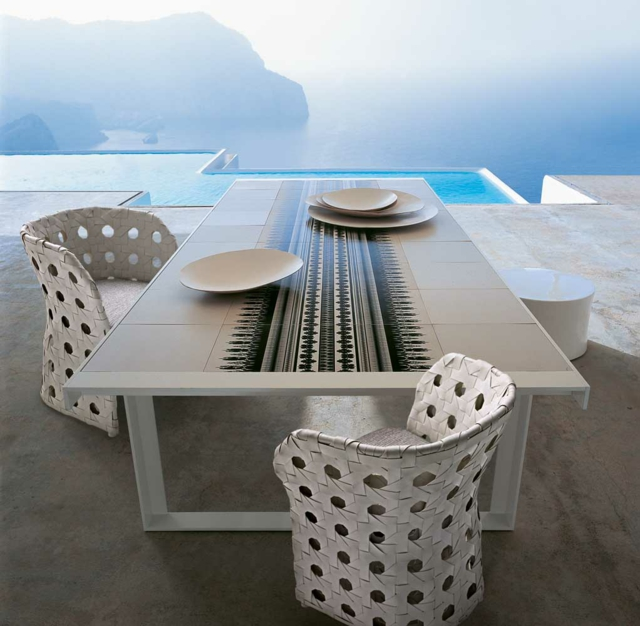 Rattan-Möbel-Design-Pool-Terrasse-Outdoor Möbel