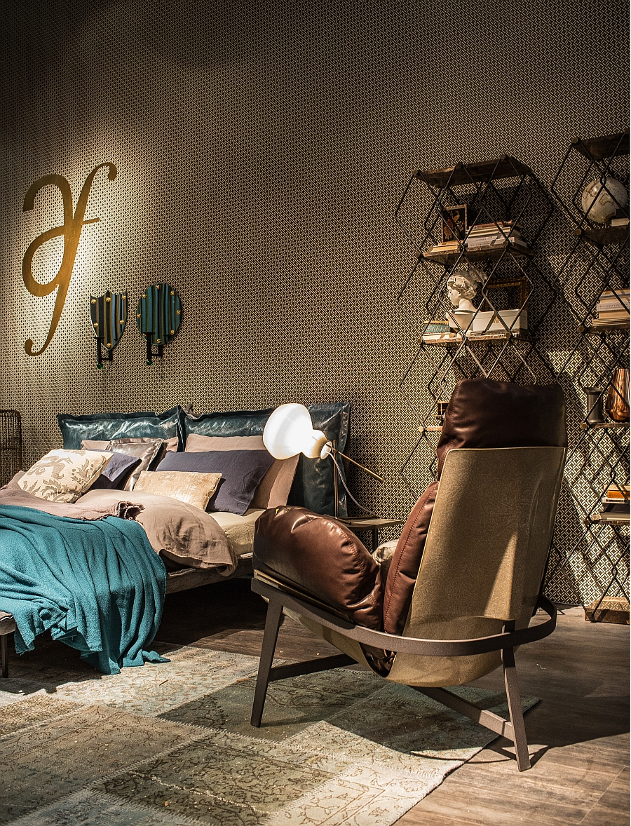 wanddekoration wohnzimmer mit edlem glam stil aequivalere. Black Bedroom Furniture Sets. Home Design Ideas