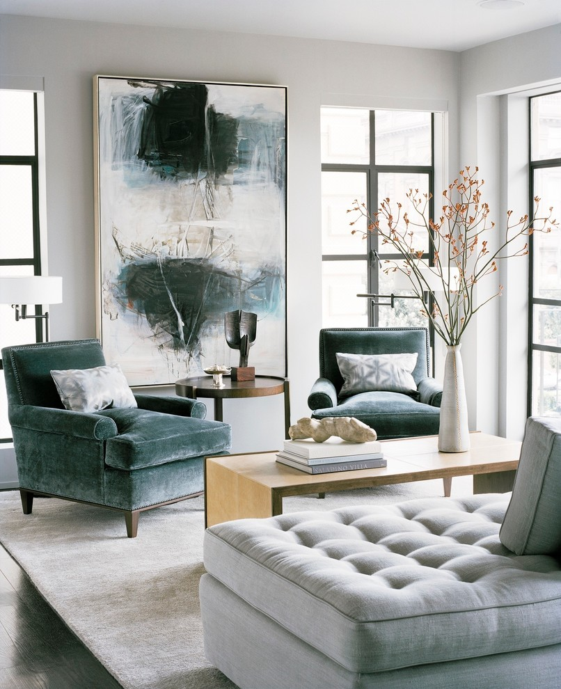 wohnzimmer deko grau:Blue and Grey Living Room