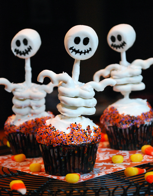 skelett muffins halloween muffins deko aequivalere. Black Bedroom Furniture Sets. Home Design Ideas