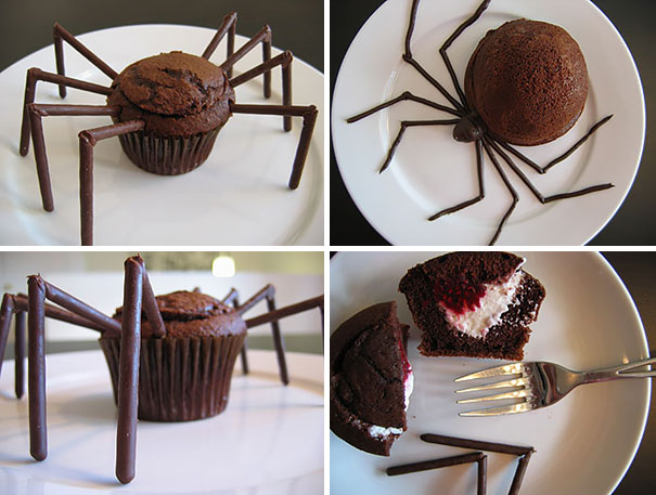 spinne cupcakes halloween muffins deko aequivalere. Black Bedroom Furniture Sets. Home Design Ideas