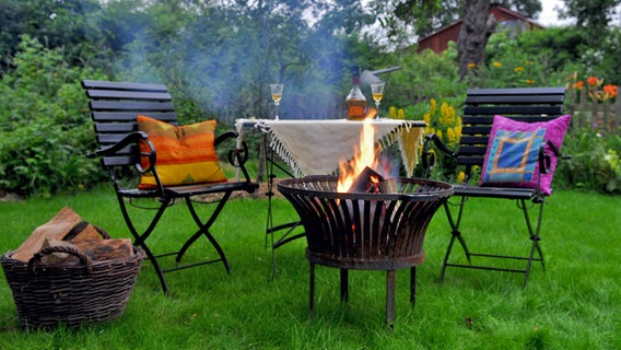 feuerkorb im garten gartenartikel aequivalere. Black Bedroom Furniture Sets. Home Design Ideas